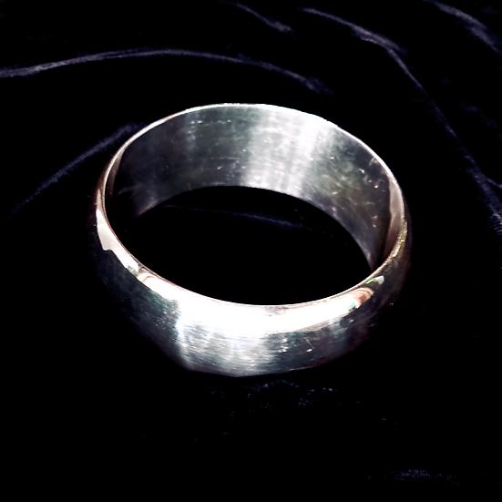 Formed 925 Sterling Silver Holloware Bangle Bracelet