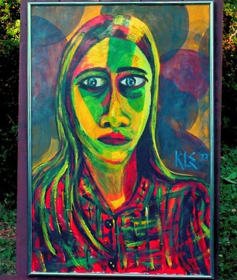Self-Portrait Acrylic Painting