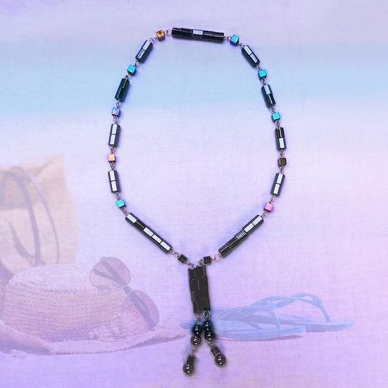 Black Magnetic Hematite Gemstones Choker Necklace/Bracelet