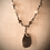 "Thumbnail: Agate Gemstones Tan & White Teardrop Pendant 20-1/2"" Necklace"