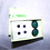 Thumbnail: Posts Set: Green Onyx, Black Onyx, Purple Amethyst Cabochon Gemstones Earrings
