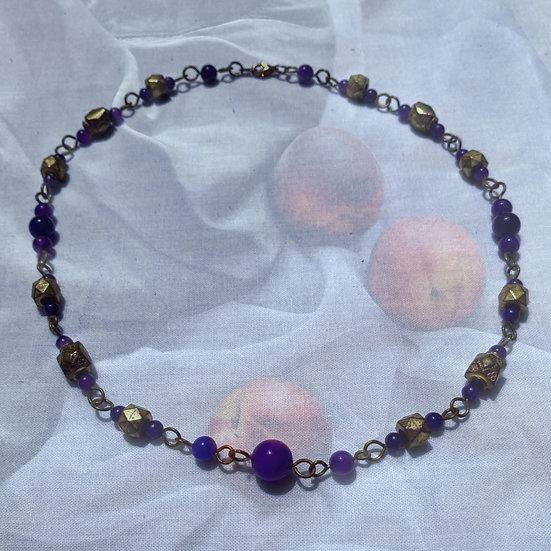 """Dark Blue Aventurine Gemstones 18-1/4"""" Necklace"""
