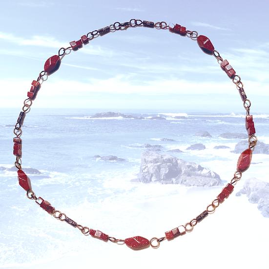 "Goldstone Gemstones 19-3/4"" Necklace"