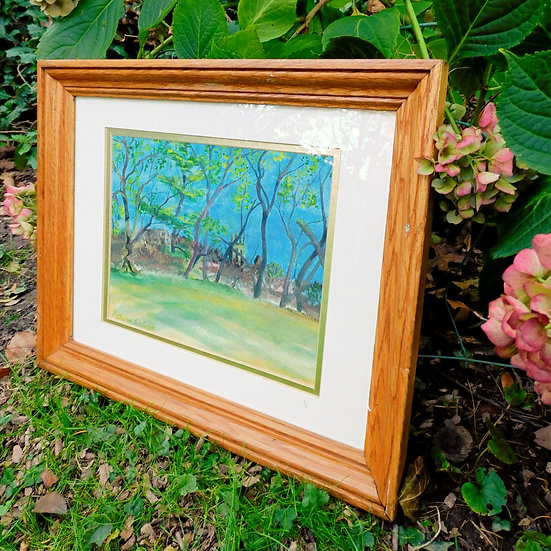 """Pennypack Park & Cathedral 16""""x 13"""" Watercolor Painting"""