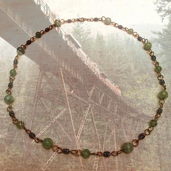 "Green Amazonite Gemstones 20-3/4"" Necklace"