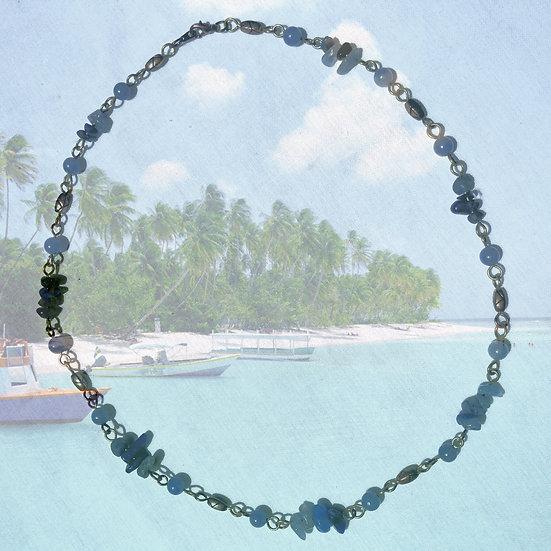 """Blue Quartz Gemstones 20"""" Necklace"""