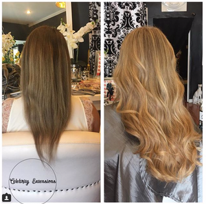 Love Hair Extension before and afters