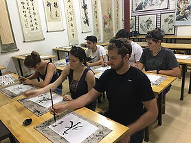 Day 8! Xi'an! Calligraphy lessons at Swa