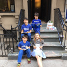 Quizzes are much easier when you can take them outside!  #stoopkidsafraidtoleavethestoop #