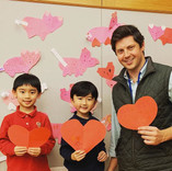 Happy Valentine's Day! 情人节快乐!Our K after school class wrote cards for their parents and te