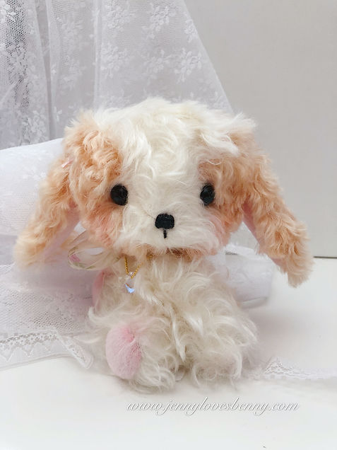puppy dog plush kings charles cavalier ooak