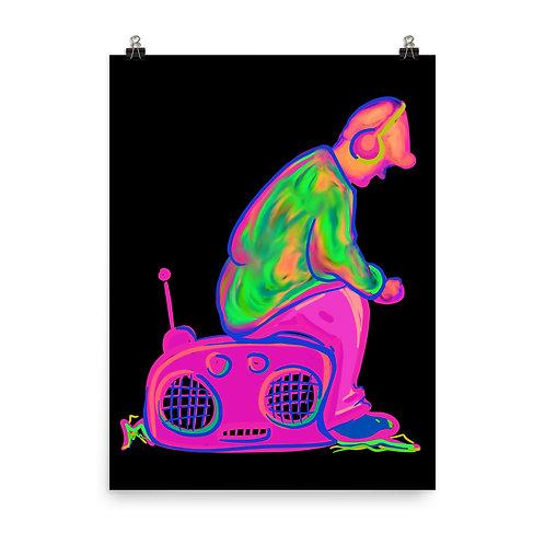 Neon Music Man Poster