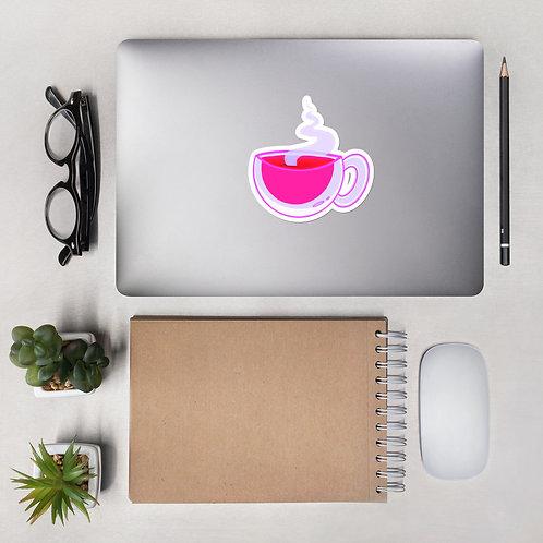Pink Coffee Sticker