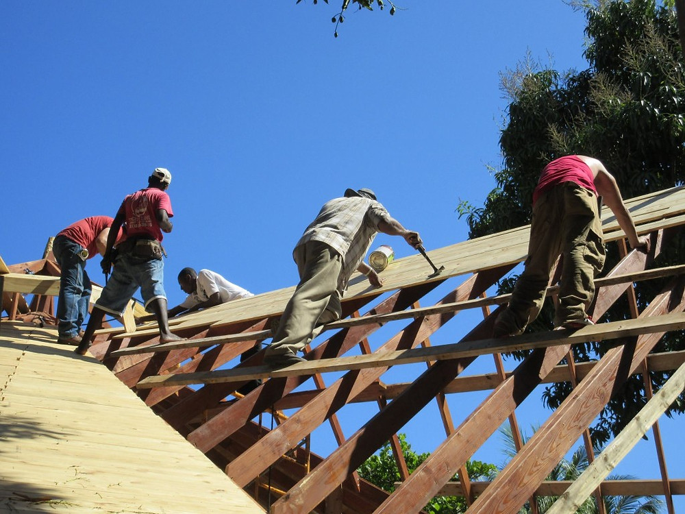 Team members join our Haitian workers