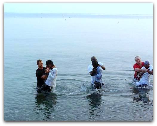 Baptisms during the Christian Leadership Academy