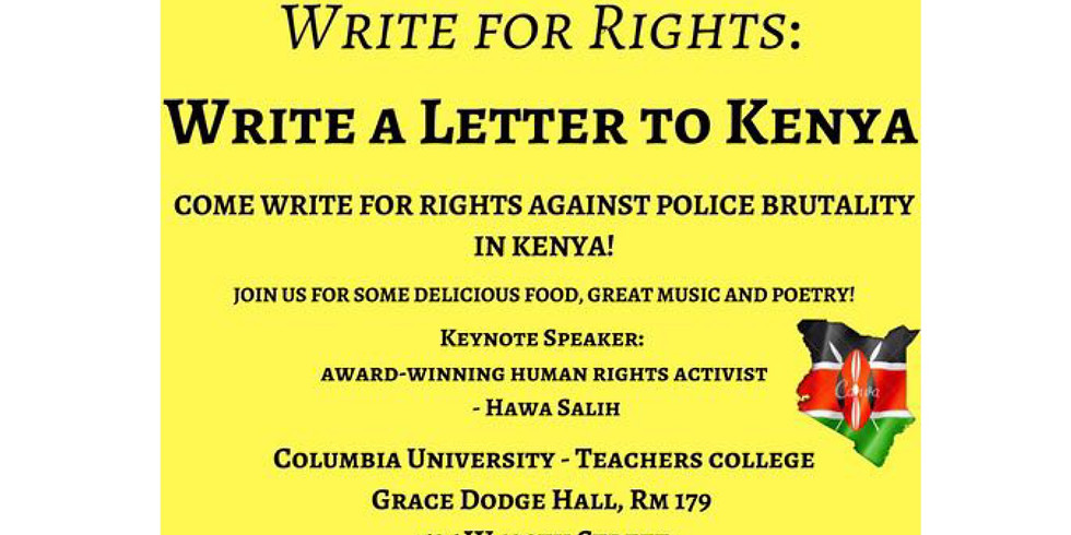 Write for Rights- Police Brutality in Kenya