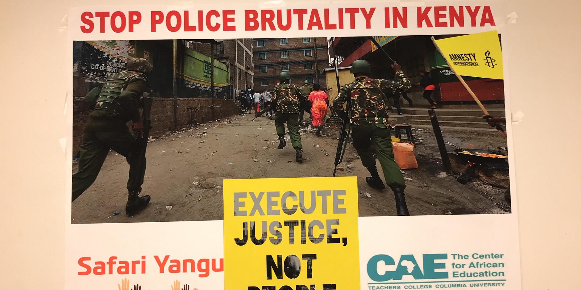 Write for Rights - Safari Yangu Against Police Brutality in Kenya