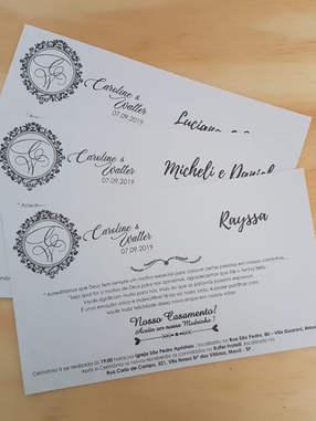 Convite de Casamento - Papel Perolado