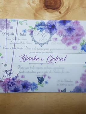 Convite de Casamento - Papel Fotográfico/ Papel Seda