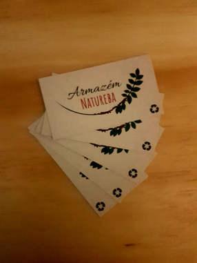 Cartão de Visita - Papel Reciclado