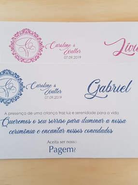 Convite de Pagem - Papel Perolado