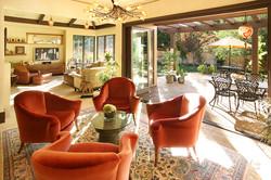 Sunlit Living Room & Patio