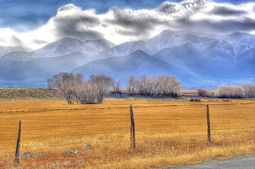 Misty Mtns, Golden Fields & Snow