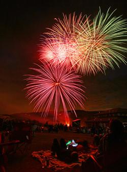 People & Fireworks, Colorado 1
