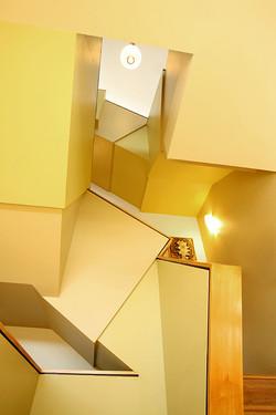 Net Zero Home, Lower Stairwell