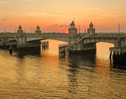 Charleston Waters & Bridge, Sunset