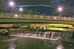 Night Bridge & Flowing Water