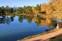 Morning Pond Mirroring Autumn Trees