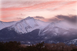 Evening Falls on Snow-capped Mt Yale