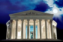 Moonlit Jefferson Memorial, DC