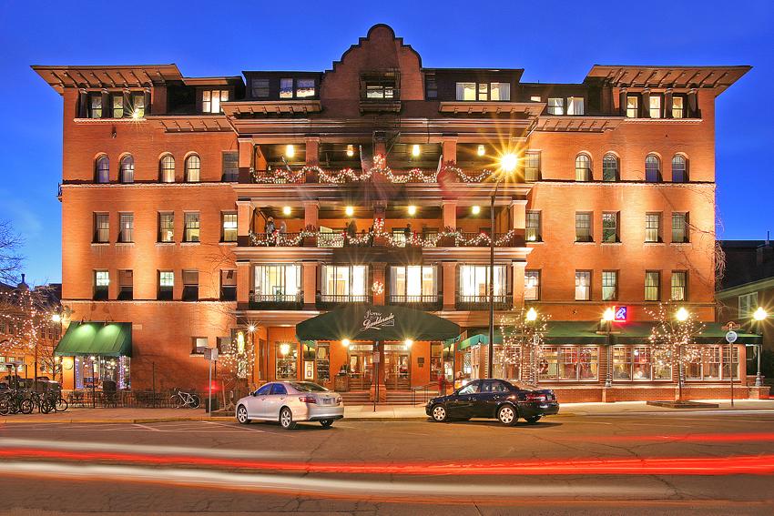 Victorian Hotel Twilight Exterior