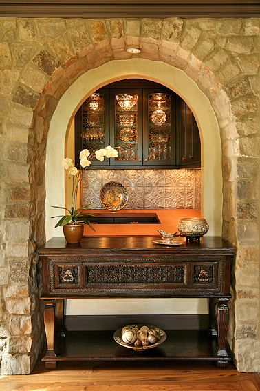 Vignette, Dining Area Stone Arch