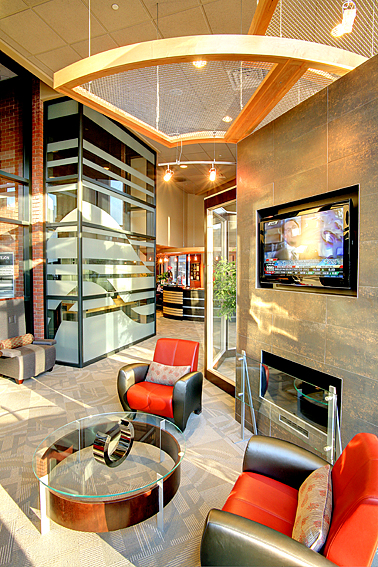 Boutique Bank Lobby Interior