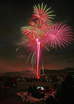 People & Fireworks, Colorado 2