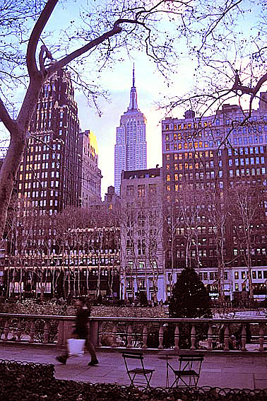 Manhattan's Bryant Park, Winter