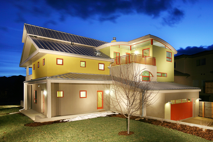 Net Zero Home, Twilight, Boulder