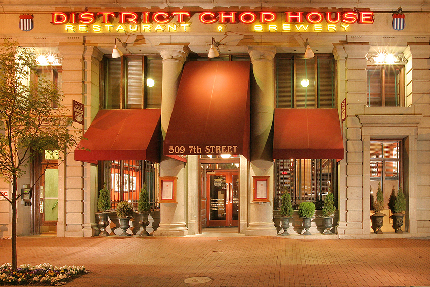 DC Chophouse Exterior Night