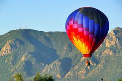 Colorful Balloon Sails Aloft