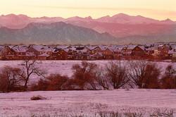 Suburban Colorado Landscape, Evening