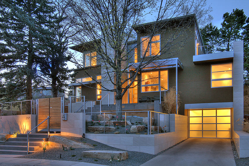 Contemporary Home, Sunset, Boulder