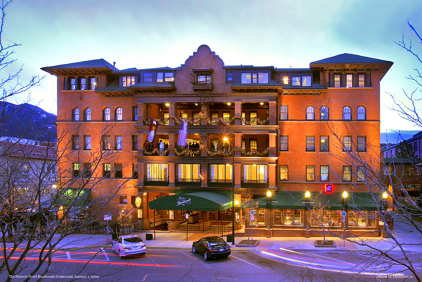 Victorian Hotel Sunset