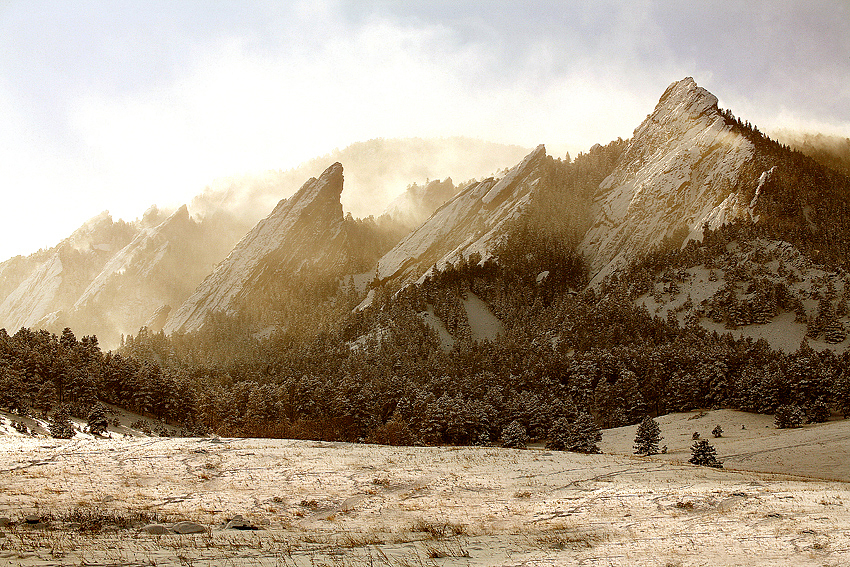 Boulder, Colorado, Winter Flatirons