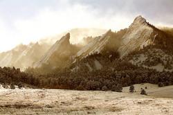 Winter Light & The Flatiron Mtns