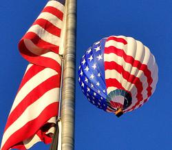 American Balloon & American Flag