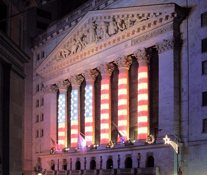 New York Stock Exchange Ext, Night