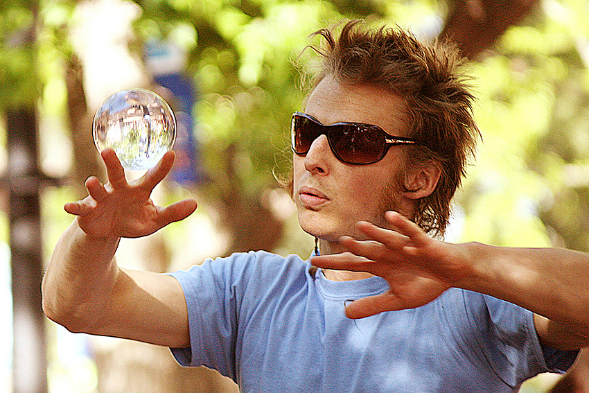 Crystal Ball Juggler, Boulder, CO